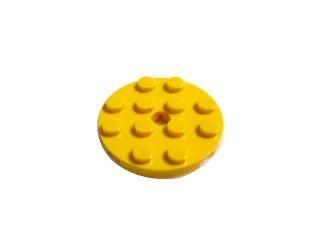 #60474 プレート 4x4 ラウンド 【黄色】 /Plate 4x4 Round with Hole and Snapstud :[Yellow]