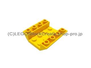 #4854  逆スロープ 45° 4x4   【黄色】 /Slope 45° 4x4 Double Inverted with Open Center  :[Yellow]