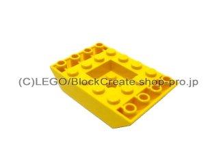 #30183  逆スロープ 45° 6x4   凹型センター  【黄色】 /Slope 45° 6x4 Double Inverted  :[Yellow]
