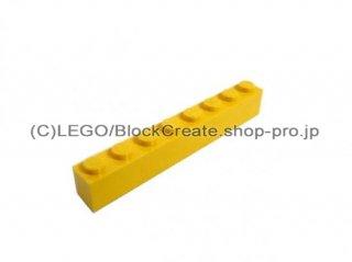 #3008 ブロック 1x8 【黄色】 /Brick 1x8 :[Yellow]