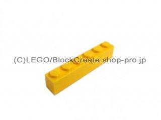 #3009 ブロック 1x6 【黄色】 /Brick 1x6 :[Yellow]