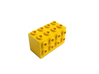 #2434 ブロック 2x4x2 3面スタッド 【黄色】 /Brick  2x4x2 with Studs on Sides  :[Yellow]