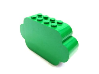 #6214 ブロック 2x8x4 【緑】 /Brick  2x8x4 with Curved Ends :【Green】