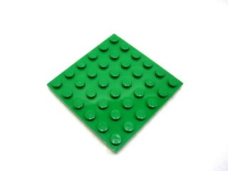 #3958 プレート 6x6 【緑】 /Plate 6x6 :[Green]