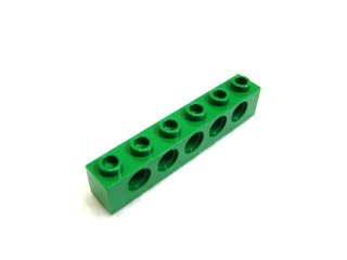 #3894 テクニック  ブロック 1x6 【緑】 /Technic Brick 1x6 with Holes :[Green]