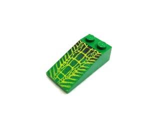 #30363 スロープ ブロック 18° 4x2 プリント   【緑】 /Slope Brick 18° 4x2 with Decoration  :[Green]