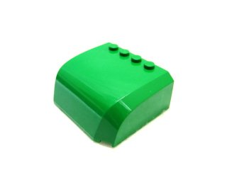 #61484 ウィンドスクリーン 5x6x2 カーブ  【緑】 /Wedge 5x6x2 Curved   :【Green】