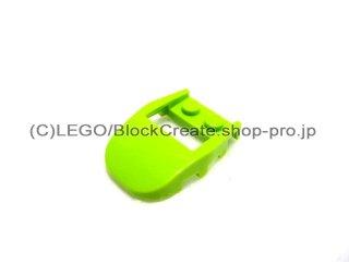 #50948 ウェッジ  4x3 カットバック カットアウト  【黄緑】 /Slope 3x4x0.667 Curved with 2x2 Cutout  :[Lime]