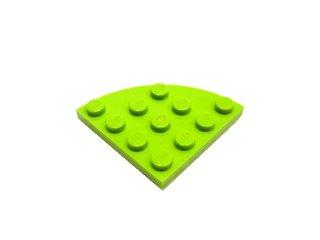 #30565 プレート ラウンドコーナー 4x4  【黄緑】 /Plate 4x4 Corner Round  :[Lime]