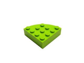 #2577 ブロック ラウンドコーナー 4x4 フルブロック 【黄緑】 /Brick  4x4 Corner Round :【Lime】