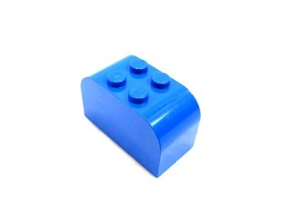 #4744 ブロック 2x4x2  【青】 /Brick 2x4x2 with Curved Top :【Blue】
