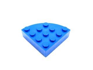 #2577 ブロック ラウンドコーナー 4x4 フルブロック 【青】 /Brick  4x4 Corner Round :【Blue】
