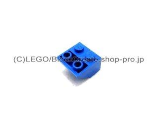 #3660 逆スロープ 45°  2x2 滑らか  【青】 /Slope 45°  2x2 Inverted with Smooth Surface  :[Blue]