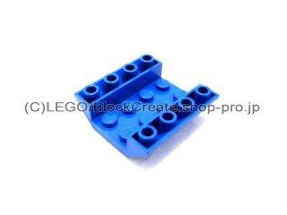 #4854  逆スロープ 45° 4x4   【青】 /Slope 45° 4x4 Double Inverted with Open Center  :[Blue]