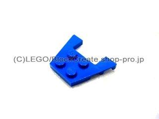 #48183 ウェッジプレート 3x4-1x2  【青】 /Wedge Plate 3x4 with Stud Notches :[Blue]