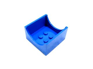 #4461  コンテナボックス 4x4x2  【青】 /Container Box 4x4x2 with Hollowed :[Blue]
