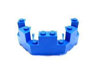 #6066 バルコニー 1/2 4x8x2 1/3  【青】 /Brick 4x8x2.333 Turret Top  :[Blue]