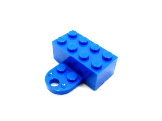 #74188  マグネットブロック 2x4  【青】 /Magnet Brick 2x4 with Plate  :[Blue]