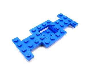 #4212 カー ベース 4x10  【青】 /Car Base 4x10x0.667 with 2 x2 Center Open :【Blue】