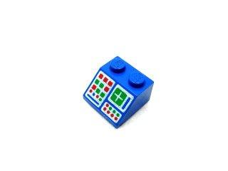 #3039 スロープ 45° 2x2 コンピューターパネル  【青】 /Slope 45° 2x2 with Computer Panel :[Blue]