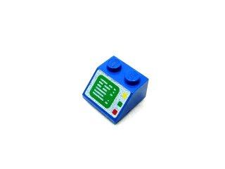 #3039 スロープ 45° 2x2 コンピュータ画面  【青】 /Slope 45° 2x2 with Computer Screen :[Blue]