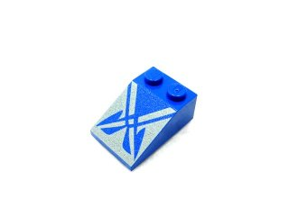 #3298 スロープ 33° 2x3 プリント 【青】 /Slope 33° 2x3 with Decoration :[Blue]