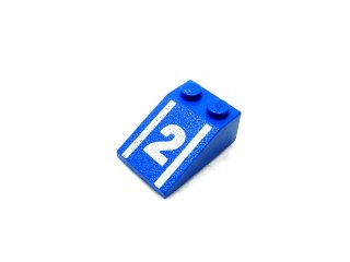 #3298 スロープ 33° 2x3 (2) 【青】 /Slope 33° 2x3 with Decoration :[Blue]