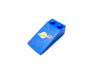 #30363 スロープ ブロック 18° 4x2 プリント   【青】 /Slope Brick 18° 4x2 with Decoration  :[Blue]
