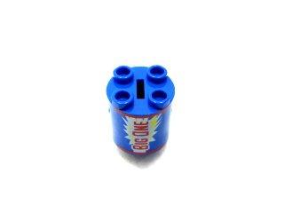 #30361 ブロック 2×2×2 ラウンド ロボットボディ プリント 【青】 /Brick  2×2×2 Astromech Droid Body with Decoration  :[Blue]