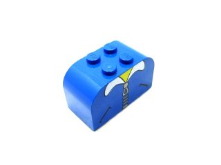 #4744 ブロック 2x4x2 プリント 【青】 /Brick 2x4x2 with Curved Top with Decoration  :[Blue]