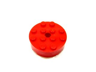 #87081 ブロック  4x4 ラウンド  【赤】 /Brick 4x4 Round with Pinhole and Snapstud  :【Red】