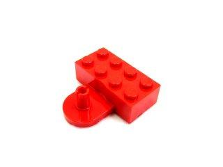 #4747 ブロック 2x4 カップリング,オス  【赤】 /Brick 2x4 with Coupling,Male :[Red]