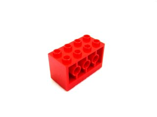 #6061 ブロック 2×4×2  【赤】 /Brick 2×4×2 with Holes on Sides :[Red]