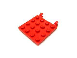 #11399 プレート 4x4 水平クリップ  【赤】 /Plate 4x4 with 2 Horizontal Clips :[Red]