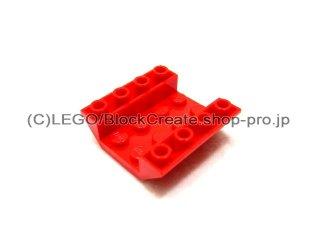 #4854  逆スロープ 45° 4x4   【赤】 /Slope 45° 4x4 Double Inverted with Open Center  :[Red]
