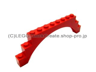 #6108 アーチ 1x12x3  【赤】 /Arch 1x12x3 Thick Top and Reinforced Underside :[Red]