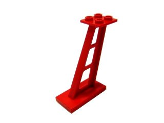 #4476 サポート 支柱 傾斜 5mm幅  【赤】 /Support 2x4x5 Stanchion Inclined :[Red]