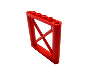 #64448 サポート 1x6x5 四角桁  【赤】 /Support 1x6x5 Girder Rectangular  :[Red]