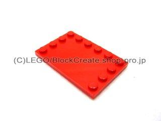 #6180 タイル 4x6 エッジスタッド  【赤】 /Tile 4x6 with Edge Studs :[Red]