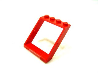 #4447 窓フレーム 4x4x3 ルーフ  【赤】 /Window 4x4x3 Roof :[Red]