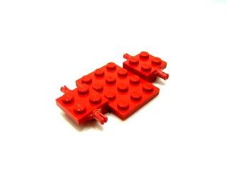 #2441 カーベース 4x7x2/3  【赤】 /Car Base 7 x 4 x 0.667 :[Red]