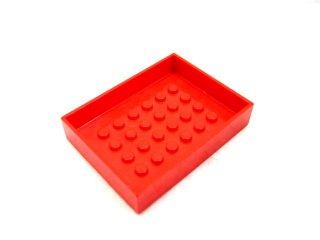 #4082  コンテナボックス 6x8x1&1/3  【赤】 /Container Box 6x8x1&1/3 :[Red]