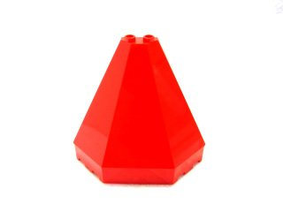 #6121 屋根パーツ 4x8x6  【赤】 /Roof Piece 4x8x6 Half Pyramid :[Red]