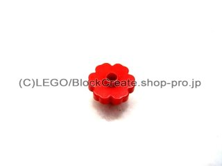 #4728 フラワー 花 2x2  【赤】 /Flower 2x2 with Open Stud :【Red】