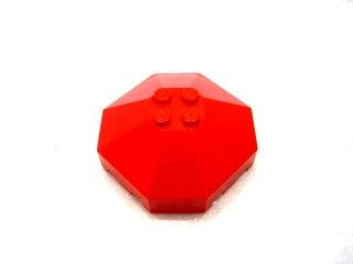 #2418 ウィンドスクリーン 6x6 八角形 キャノピー  【赤】 /Windscreen 6x6 Octagonal Canopy with Axle Hole :【Red】