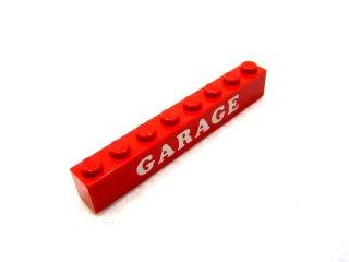 #3008 ブロック 1x8 (GARAGE) 【赤】 /Brick 1x8 with