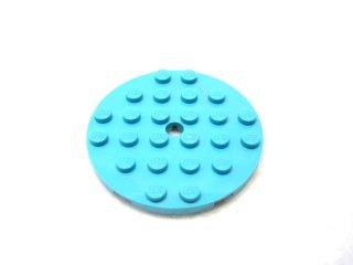 #11213 プレート 6x6 ラウンド 【ミディアムアズール】 /Plate 6x6 Round with Tube Pin :[Md,Azure]