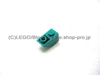 #3665 逆スロープ 45°  2x1  粗い  【ダークターコイズ】 /Slope 45°  2x1 Inverted with Rough Surface  :[Dark Turquoise]