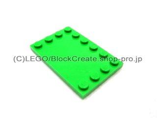 #6180 タイル 4x6 エッジスタッド  【ブライトグリーン】 /Tile 4x6 with Edge Studs :[Bt,Green]