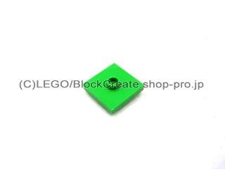 #87580 タイル 2x2 センタースタッド  【ブライトグリーン】 /Plate 2x2 with Groove and 1 Center Stud  :[Bt,Green]